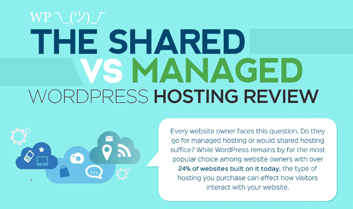 Shared vs Managed WordPress Hosting banner
