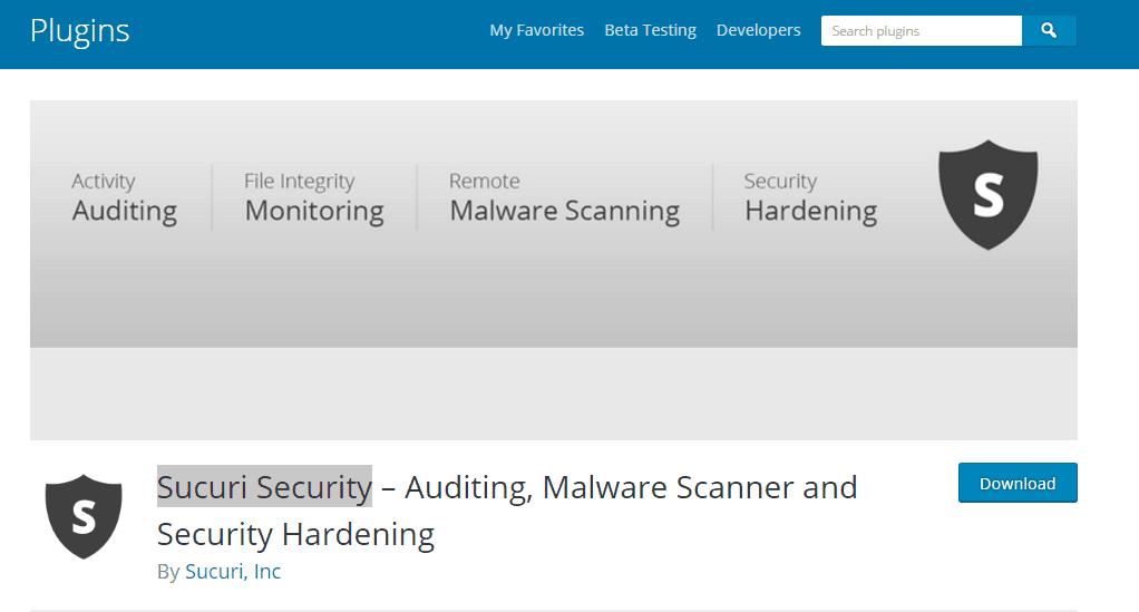 Sucuri Security - WordPress Plugins