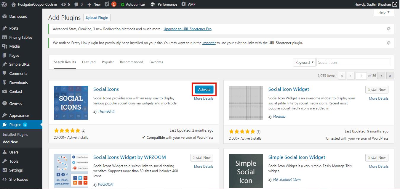 WordPress Activate Plugins